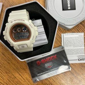 G Shock White/Rosegold Watch-Brand New